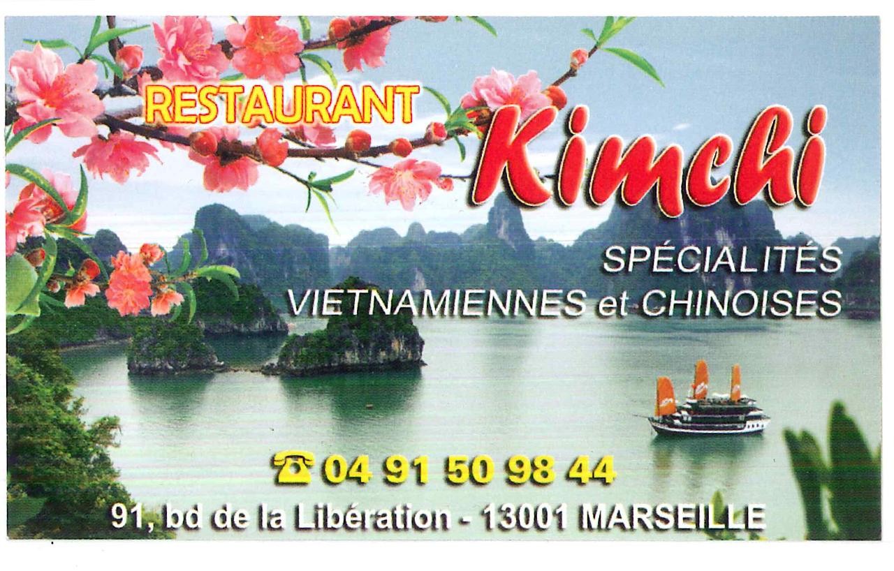 Menu Restaurant Kim Chi Marseille